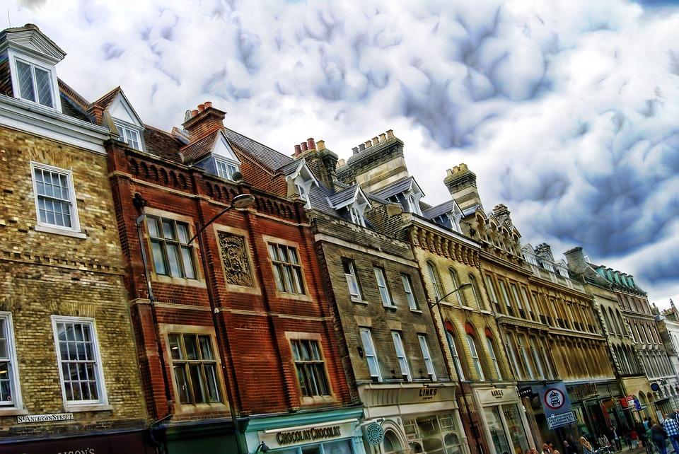 カメラ建物風景パースペクティブ効果