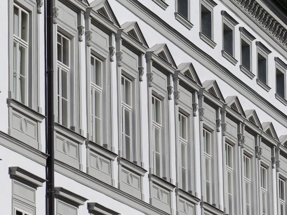 カメラ風景建物標準レンズ