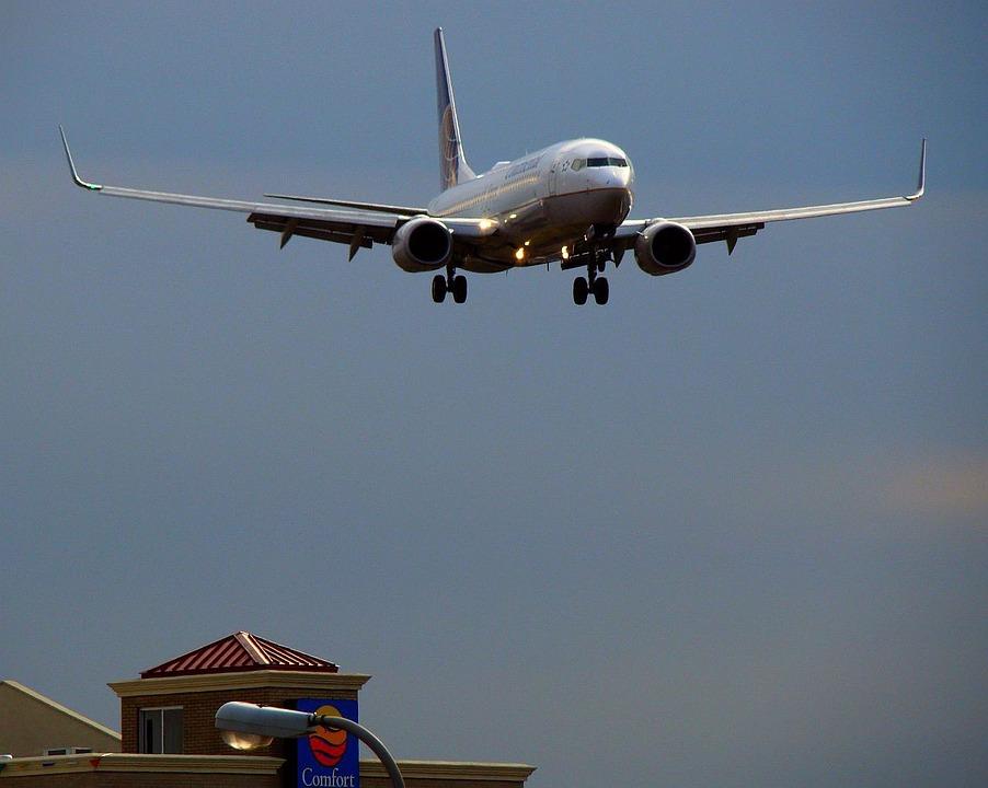 カメラ風景圧縮効果飛行機